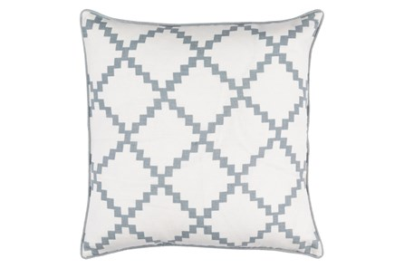 Accent Pillow-Delia Lattice Grey 22X22