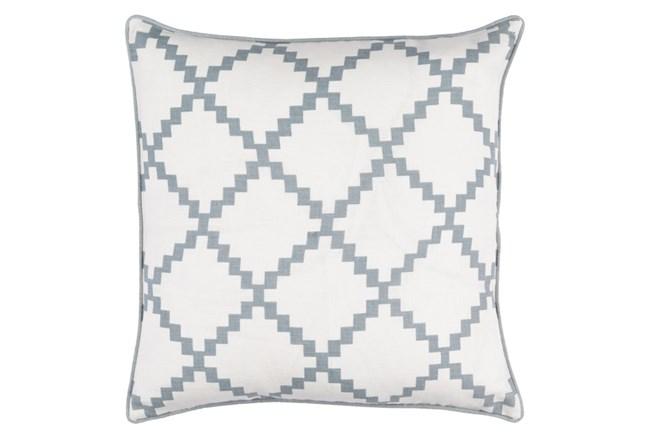 Accent Pillow-Delia Lattice Grey 22X22 - 360