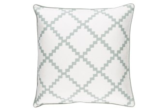 Accent Pillow-Delia Lattice Moss 18X18