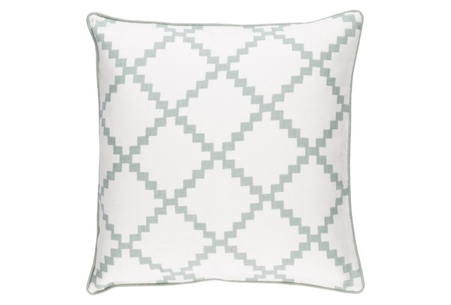 Accent Pillow-Delia Lattice Moss 18X18 - 360