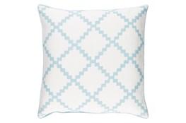 Accent Pillow-Delia Lattice Blue 22X22