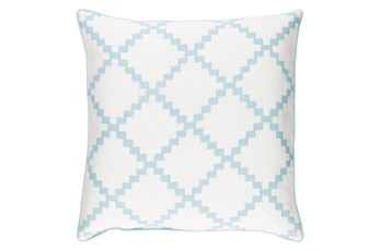 Accent Pillow-Delia Lattice Blue 22X22