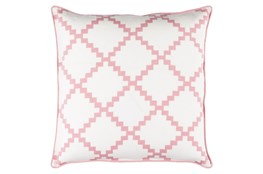 Accent Pillow-Delia Lattice Salmon 18X18