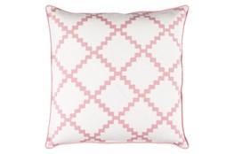 Accent Pillow-Delia Lattice Salmon 18X18