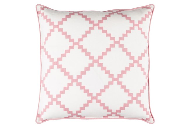 Accent Pillow-Delia Lattice Salmon 18X18 - 360