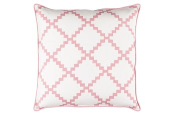 Accent Pillow-Delia Lattice Salmon 22X22