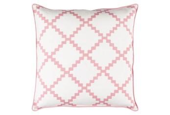 Accent Pillow-Delia Lattice Salmon 22X22
