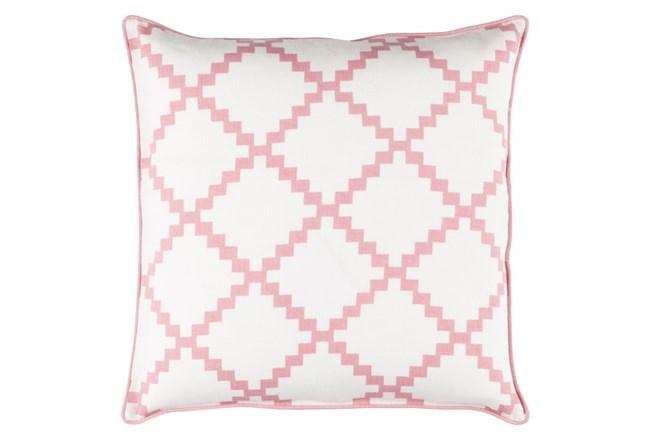 Accent Pillow-Delia Lattice Salmon 22X22 - 360