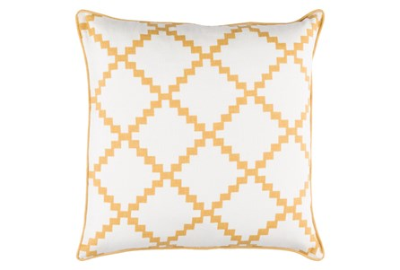 Accent Pillow-Delia Lattice Yellow 22X22
