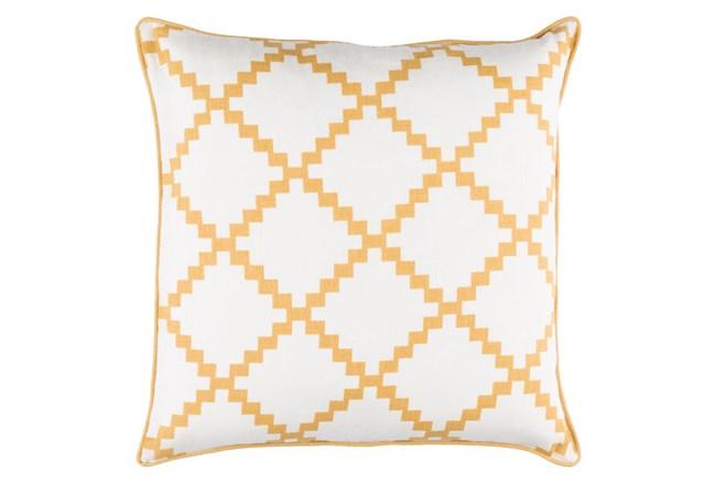 Accent Pillow-Delia Lattice Yellow 22X22 - 360