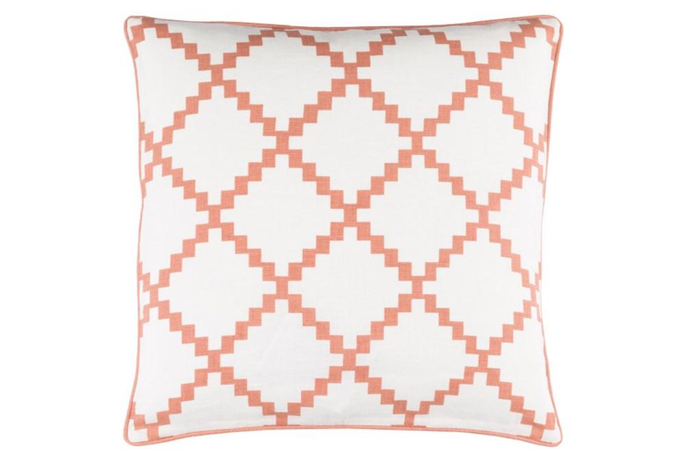 Accent Pillow-Delia Lattice Rust 22X22