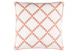 Accent Pillow-Delia Lattice Rust 22X22 - Signature
