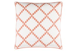 Accent Pillow-Delia Lattice Rust 22X22