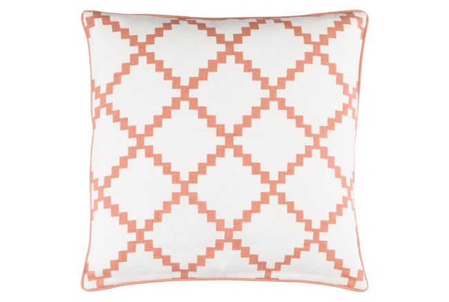 Accent Pillow-Delia Lattice Rust 22X22 - 360
