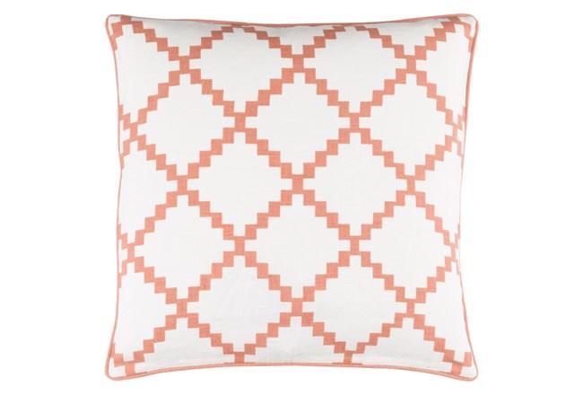 Accent Pillow-Delia Lattice Rust 22X22 - 360