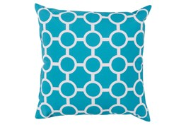Accent Pillow-Estelle Aqua 18X18