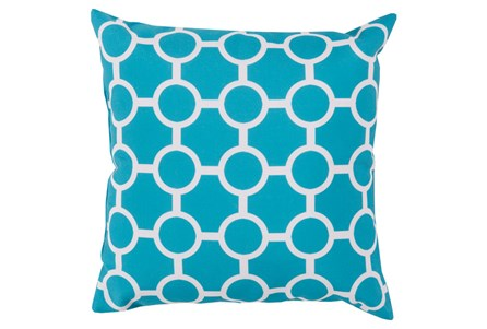 Accent Pillow-Estelle Aqua 20X20