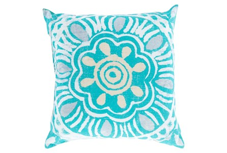 Accent Pillow-Mazarine Aqua Multi 18X18