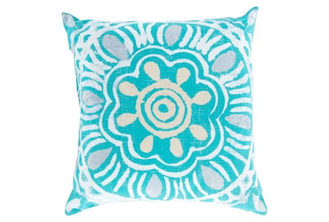 Accent Pillow-Mazarine Aqua Multi 18X18 - 360