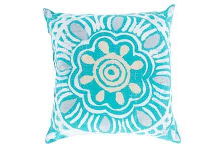 Accent Pillow-Mazarine Aqua Multi 20X20 - Main