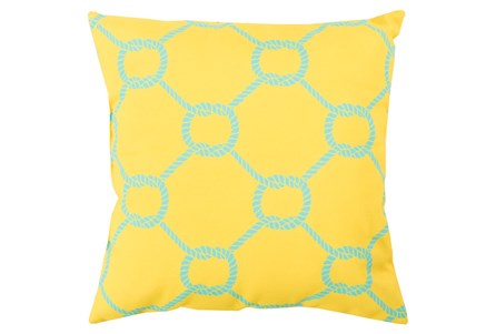 Accent Pillow-Lasso Yellow 18X18
