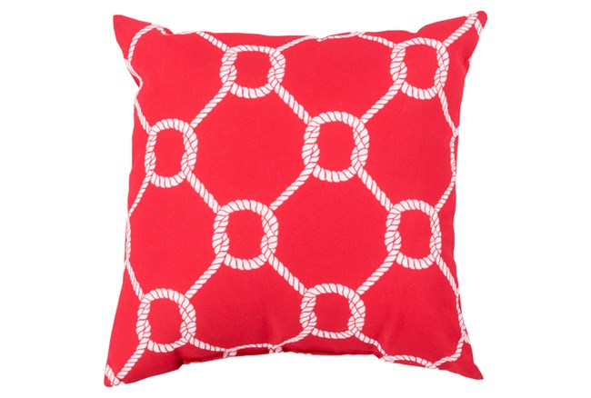 Accent Pillow-Lasso Red 18X18 - 360