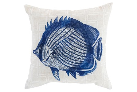 Accent Pillow-Panama Fish Blue 18X18