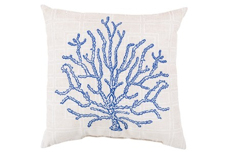 Accent Pillow-Panama Coral Blue 18X18