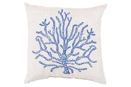 Accent Pillow-Panama Coral Blue 20X20 - Main