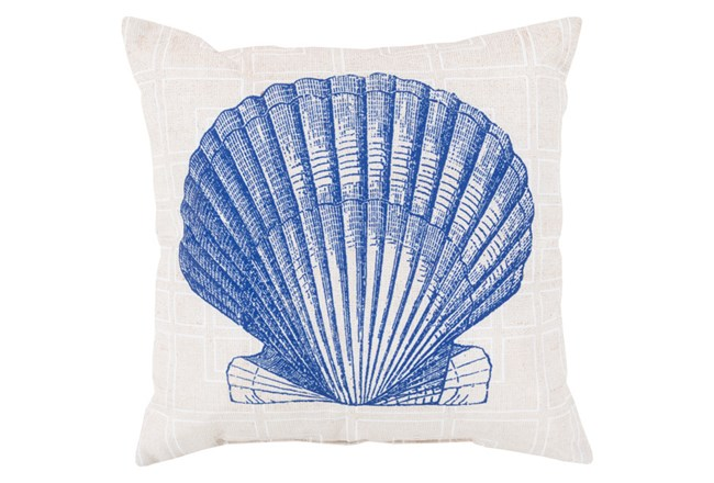 Accent Pillow-Panama Shell Blue 18X18 - 360