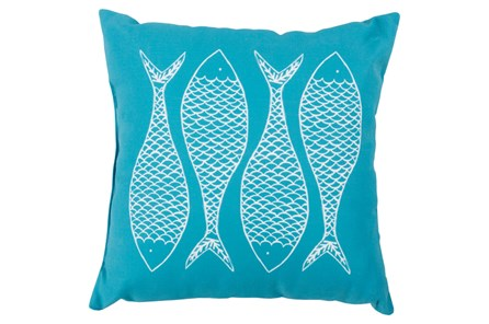 Accent Pillow-Poke Aqua 20X20