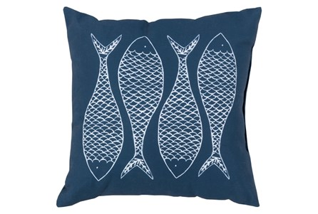 Accent Pillow-Poke Navy 18X18