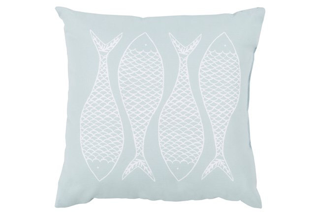 Accent Pillow-Poke Sky Blue 18X18 - 360