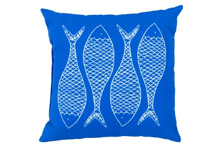 Accent Pillow-Poke Cobalt 20X20