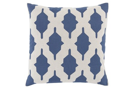 Accent Pillow-Hanne Navy 22X22 - Main