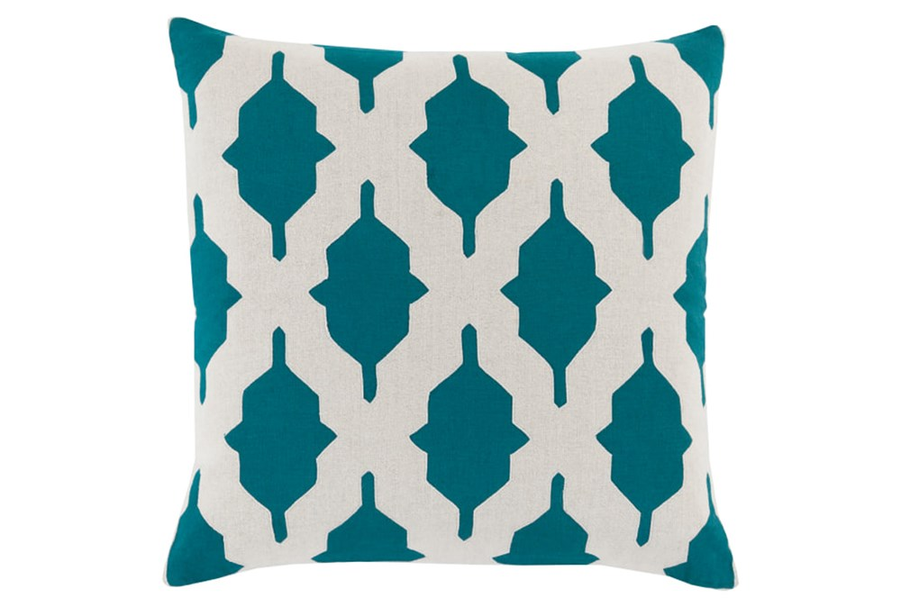 Accent Pillow-Hanne Teal 22X22