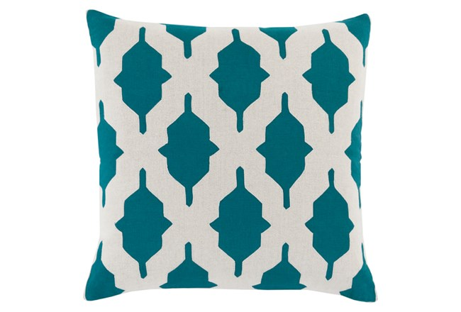 Accent Pillow-Hanne Teal 22X22 - 360