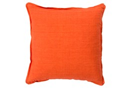 Accent Pillow-Elsa Solid Poppy 18X18