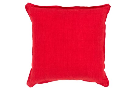 Accent Pillow-Elsa Solid Cherry 22X22