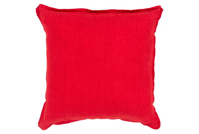 Accent Pillow-Elsa Solid Cherry 22X22 - 360