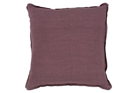 Accent Pillow-Elsa Solid Eggplant 18X18