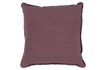 Accent Pillow-Elsa Solid Eggplant 22X22