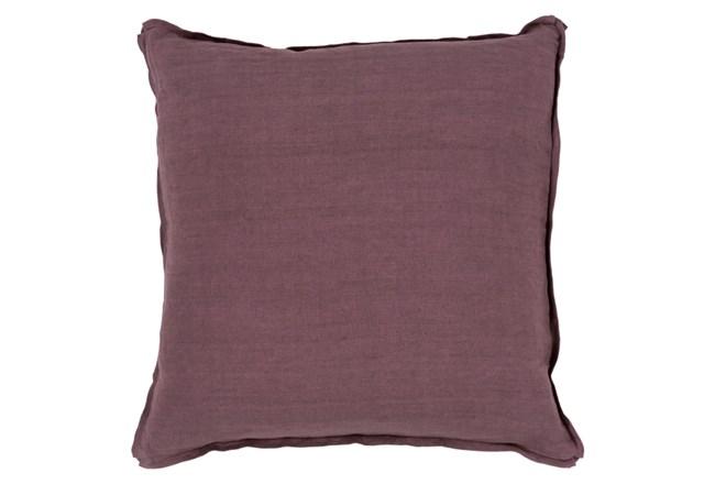 Accent Pillow-Elsa Solid Eggplant 22X22 - 360