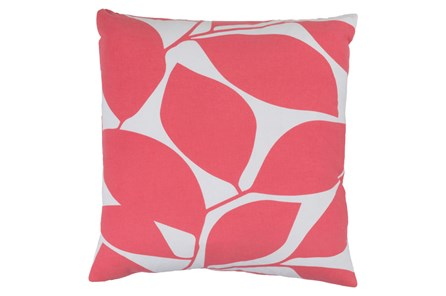 Accent Pillow-Leaflet Pink/Grey 18X18