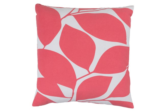 Accent Pillow-Leaflet Pink/Grey 20X20 - 360