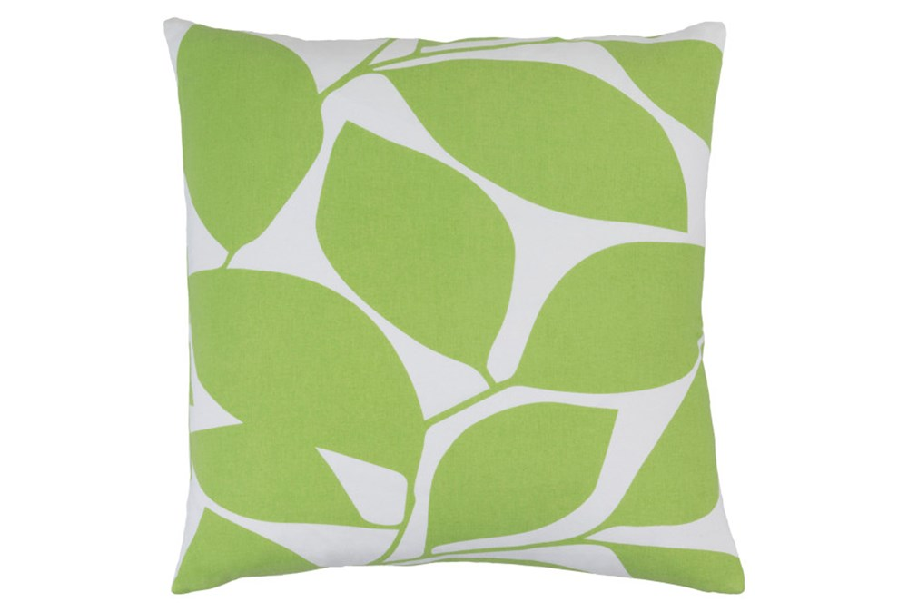 Accent Pillow-Leaflet Lime/Light Grey 20X20