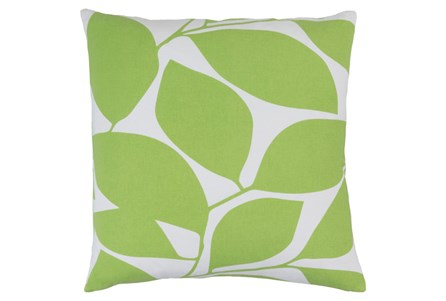 Accent Pillow-Leaflet Lime/Light Grey 20X20