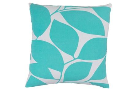 Accent Pillow-Leaflet Aqua/Grey 18X18