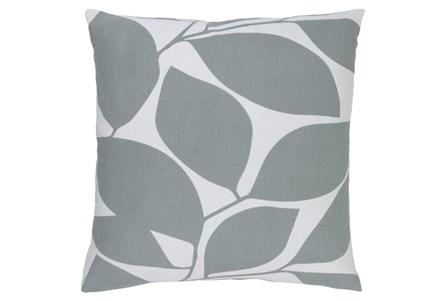 Accent Pillow-Leaflet Light Grey 18X18