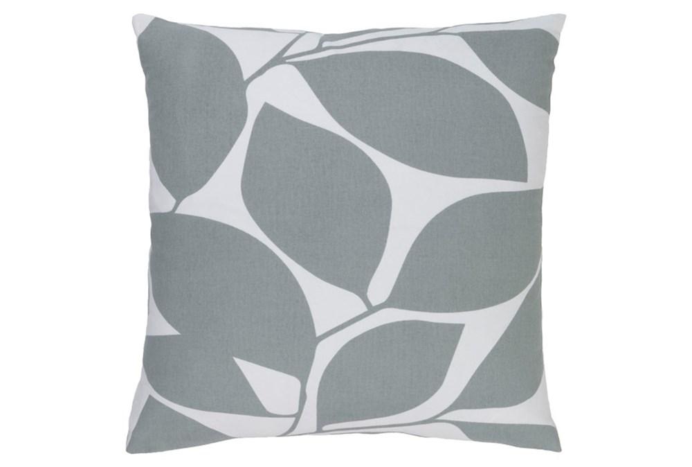 Accent Pillow-Leaflet Light Grey 20X20